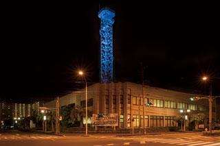 鹿児島放送電波塔ライトアップ